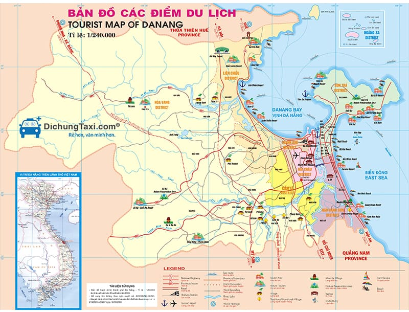 Danang Tourist Map